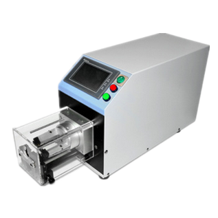 Coaxial cable stripping machine