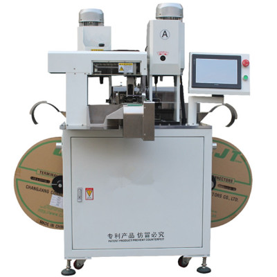 Automatic crimping machine with servo system