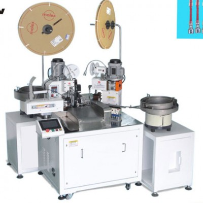 Fully Automatic Terminal Crimping & Heat Shrink Tube Inserting Machine